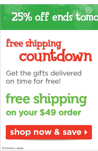 Free shipping countdown - get your gifts delivered on time for free!