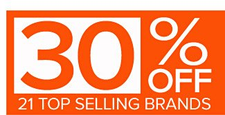 30% Off Top Selling Brands