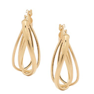 14K Gold Trip Wave Earrings