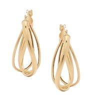 14K Gold Trip Wave Earrings