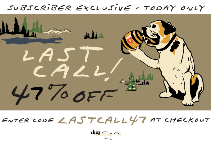 LAST CALL 47% OFF - ENTER CODE LASTCALL47 AT CHECKOUT