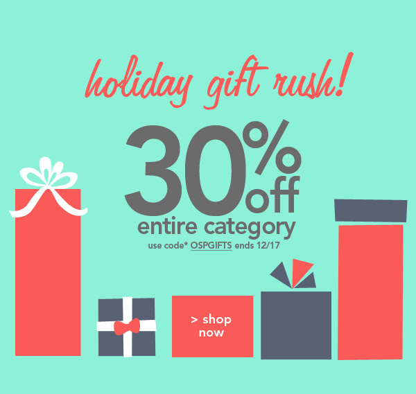 Shop Holiday Gift Rush