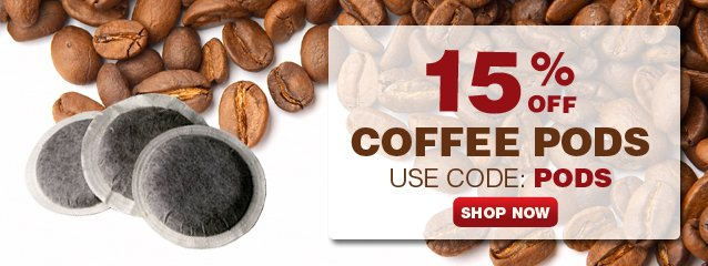 Take 15% OFF Coffee PODS now with coupon: PODS