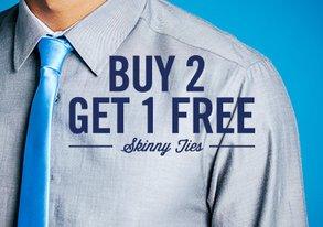 Shop Buy 2 Get 1 Free: NEW Skinny Ties