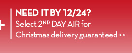 NEED IT BY 12/24? Select 2nd DAY AIR for Christmas delivery guaranteed.