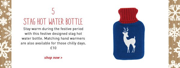 stag hot water bottle