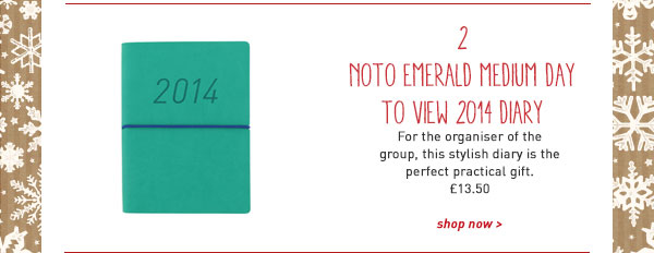noto emerald medium day to view 2014 diary