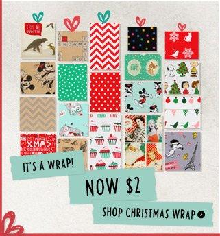 $2 Christmas Wrap
