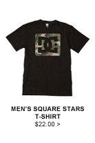 Men's Square Stars T-Shirt $22.00