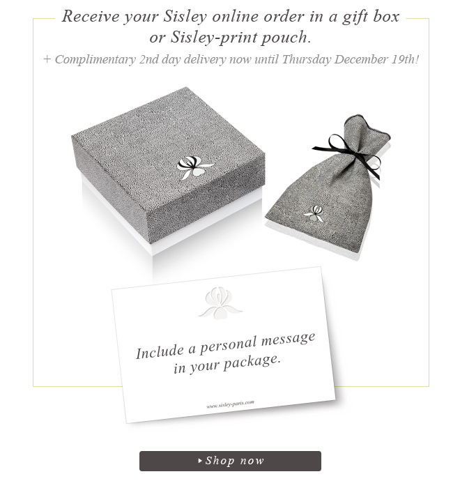 Receive your Sisley online order in a gift box