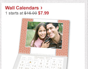 Wall Calendars › 1 starts at $16.00 Now $7.99