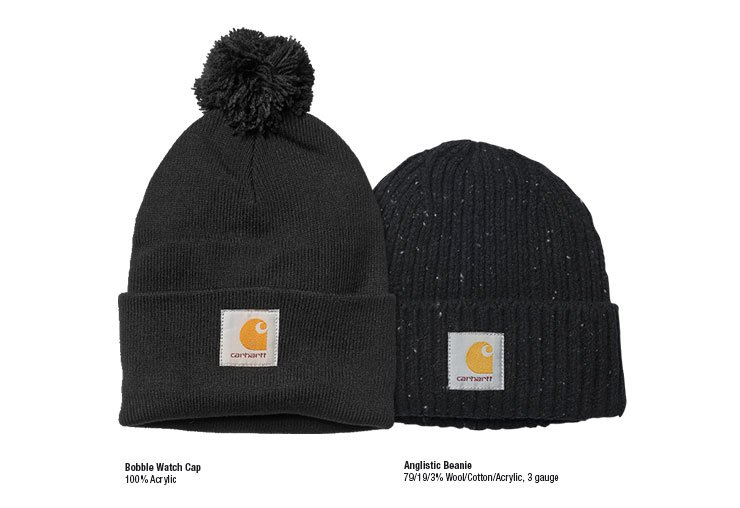 Bobble Watch Cap and Anglistic Beanie