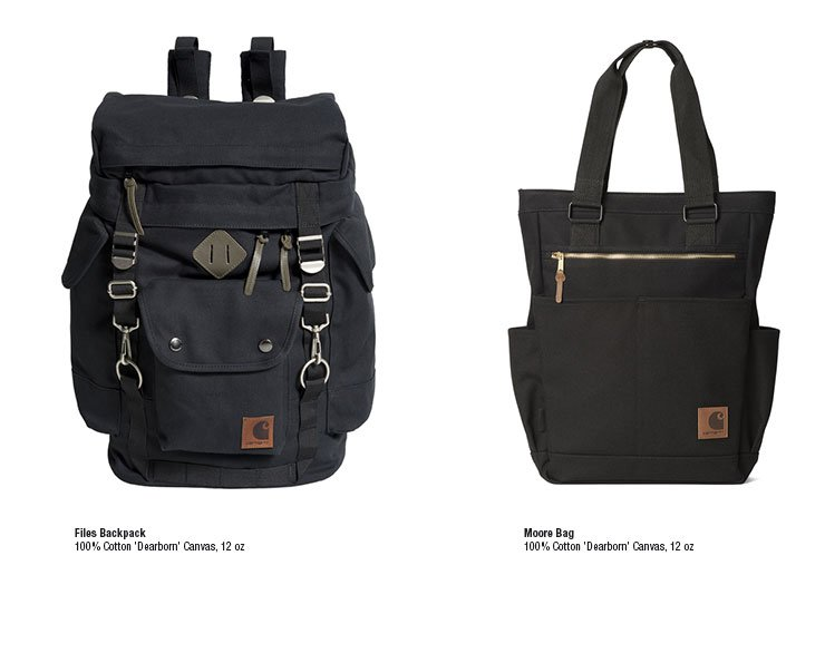 Files Backpack and Moore Bag