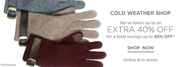 Up to 65% off Cold Weather Shop