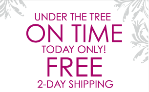 Under the Tree On Time Today Only! Free 2-Day Shipping