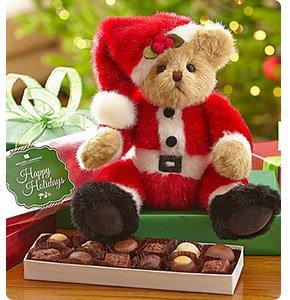 Bearington® Santa Beary Bear with Chocolate Shop Now