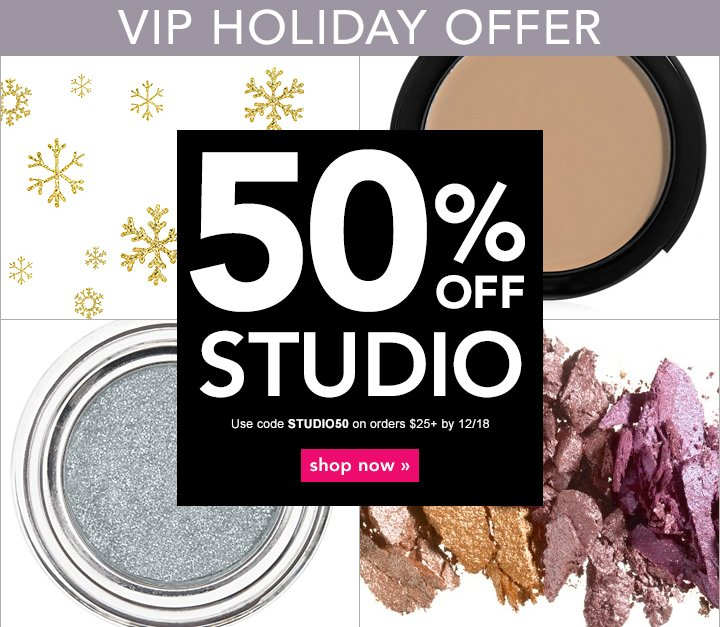 50% off Studio - The Affordable Luxury & Professional Line - use code: STUDIO50 - shop now