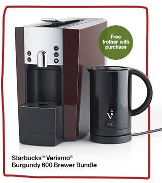 Starbucks® Verismo® Burgendy 600  Brewer Bundle