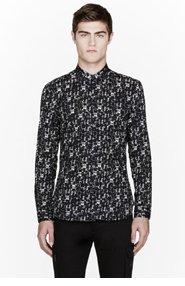 CALVIN KLEIN COLLECTION Black Abstract print Adrem shirt for men