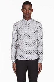 KENZO Grey mini-EYE JACQUARD shirt for men