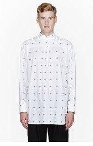 ANN DEMEULEMEESTER White Patterned Oversize shirt for men