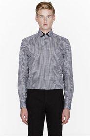 LANVIN Green and burgundy gingham check shirt for men