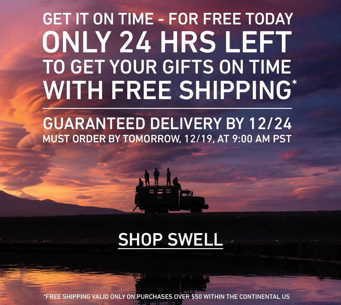 Last Day for Free Shipping With Guaranteed 12/24 Delivery
