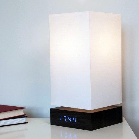 Click Clock Lamp // Blue LED // Black