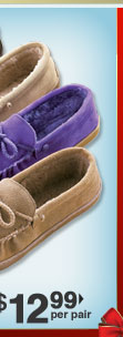 Leather Moccasins $29.99 per pair