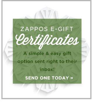 Shop Zappos E-Gift Certificates