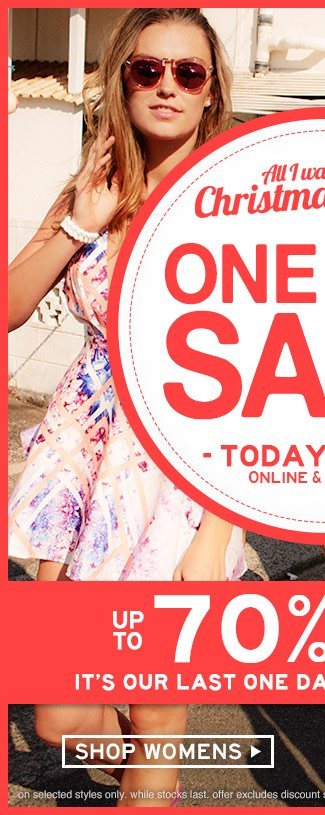 Shop Womens One Day Sale