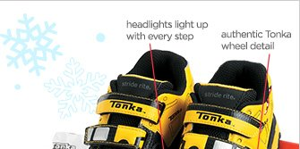headlights light up with every step. authentic Tonka wheel detail