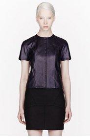 T BY ALEXANDER WANG Indigo blue Leather t-shirt for women