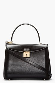 MARC JACOBS Black Leather and Suede The Grand Metropolitan Tote for women
