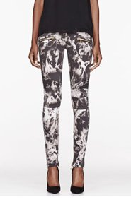 BALMAIN Grey marble Printed Jeans for women