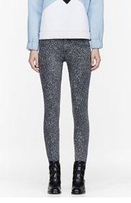 STELLA MCCARTNEY Grey Ankle Grazer Splatter Print Skinny Jeans for women