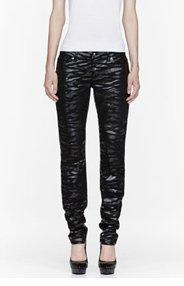 MCQ ALEXANDER MCQUEEN Black Skinny Tiger Print Jeans for women