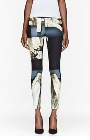 ACNE STUDIOS Grey Patchworked Lace print jeans for women