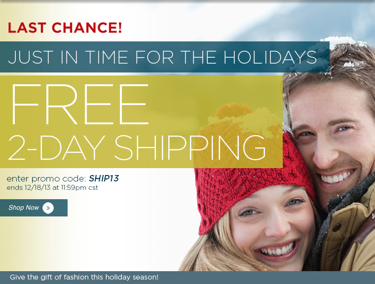 Last minute shoppers: Free 2 Day Shipping for a limited time. Display images for more details.