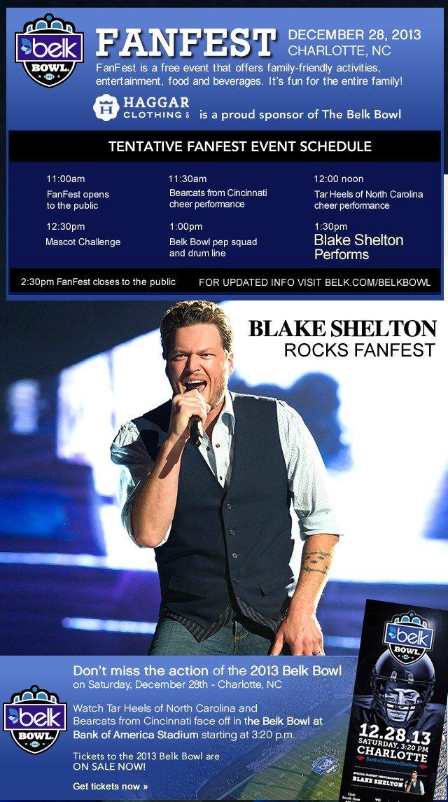 Fanfest. Blake Shelton Rocks Fanfest.