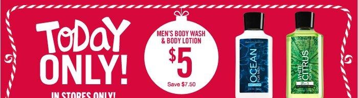 Men's Body Wash & Body Lotion – $5