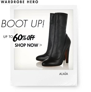 BOOT UP - UP TO 60% OFF
