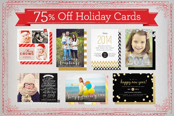 75% Off Holiday Cards