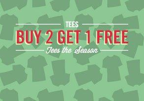 Shop Tees the Season: Buy 2 Get 1 Free
