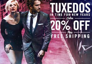 Shop Extra 20% Off: New Year's Tuxedos