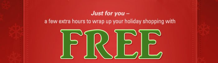 Order by 2pm Eastern today to guarantee standard delivery by Christmas!