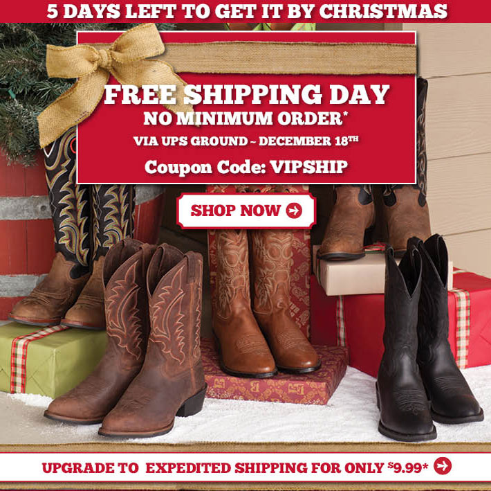 Free Shipping Day - No Minimum Order!