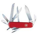 Wenger 16933 Swiss Army Handyman 15 Functions Red Handle Knife
