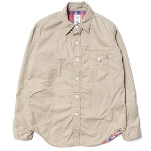 Post Overalls C-Post7 French Twill Shirt Khaki