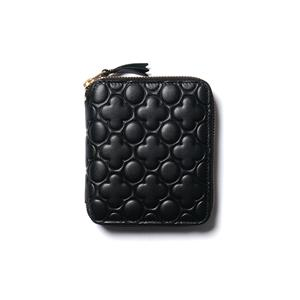 Comme des Garcons WALLET Embossed Leather Line Zip Wallet